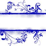 флористическое предпосылки голубое Стоковое Фото