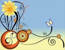 флористическое предпосылки декоративное Стоковые Изображения RF