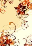 флористическое предпосылки коричневое Стоковое Изображение
