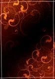 флористическое предпосылки коричневое Иллюстрация штока