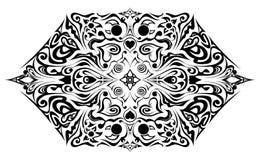 флористическое предпосылки черное иллюстрация вектора
