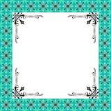 Флористическое рамок конструкции роскошное зеленое Стоковая Фотография RF