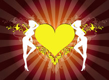 флористическое сердце девушок Стоковая Фотография
