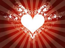 флористическое сердце Стоковое Изображение