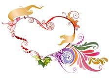 Флористическое сердце Стоковая Фотография