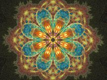 флористическое счастливое мандала Стоковые Фото