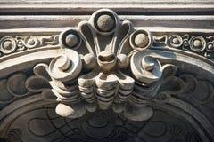 Флористическое украшение на здании nouveau искусства Стоковое Изображение