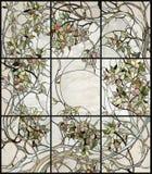 Флористическое цветное стекло стоковое фото rf