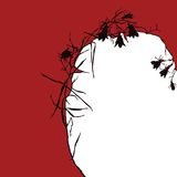 флористическое silhuette иллюстрации Стоковые Фото