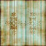 флористическое striped grunge Стоковые Фотографии RF