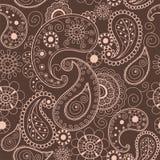Флористической предпосылка Индии племенная Пейсли картины хны иллюстрации вектора орнамента картины mehendi нарисованная рукой Стоковая Фотография RF
