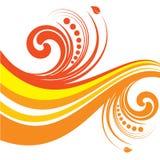 флористическо приглаживайте волну Стоковое Изображение RF