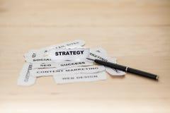 Фокусировать сулоя стратегического документа стоковое фото rf