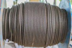 Фокус абстрактной нежности запачканный и мягкий поверхностной текстуры старого стального прута, железной проволоки, стальной штан Стоковое фото RF