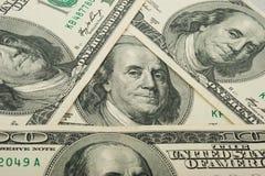 фокус глаз долларов предпосылки Стоковые Изображения