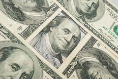 фокус глаз долларов предпосылки Стоковая Фотография RF