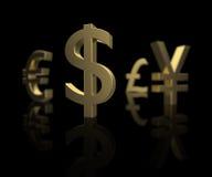 фокус доллара Стоковая Фотография RF