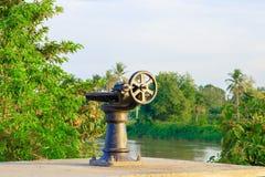 Фокус клапана воды колес шестерни отборный с малой глубиной поля Стоковое Изображение