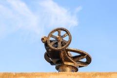 Фокус клапана воды колес шестерни отборный с малой глубиной поля Стоковые Фото