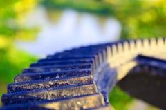 Фокус клапана воды колес шестерни отборный с малой глубиной поля Стоковая Фотография RF