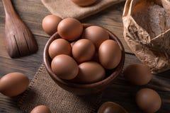 фокус 2 коричневых яичек первый Стоковые Изображения RF