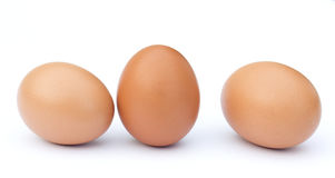 фокус 2 коричневых яичек первый Стоковые Изображения