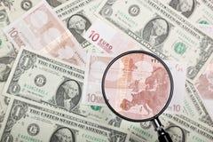 Фокус на евро Стоковые Фотографии RF