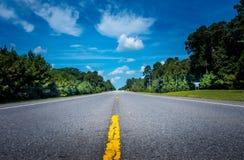 Фокус на дороге вперед Стоковые Изображения
