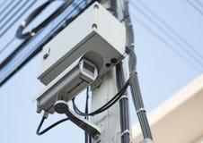 Фокус на CCTV замкнутой телевизионной системы Стоковые Изображения RF