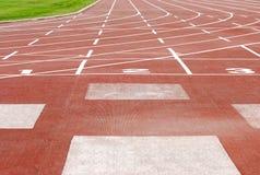 фокус нумерует след напольных спортов Стоковые Изображения