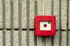 фокус пожара поля dept кнопки сигнала тревоги отмелый стоковые фото
