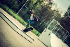 Фокус скейтборда стоковая фотография rf
