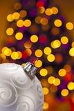 фокус украшения рождества выделяет вне стоковое изображение rf