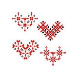 Фольклорное украшение дизайна орнамента сердца бесплатная иллюстрация