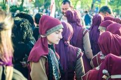 Фольклорные танцоры на день ` s национального суверенитета и детей - Турция Стоковое Изображение
