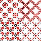 Фольклорный геометрический набор картины иллюстрация вектора