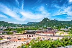 фольклорный дворец соотечественника музея Кореи gyeongbokgung стоковая фотография