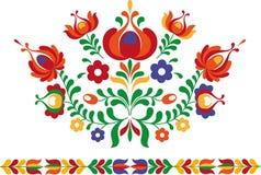 Фольклорный орнамент от восточной Словакии иллюстрация штока