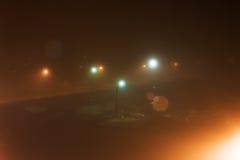 Фонарики в тумане Стоковое Изображение