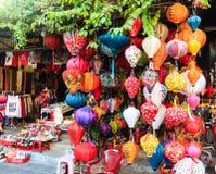Фонарики в Hoi, Вьетнаме Стоковая Фотография