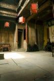 фонарики зодчества китайские нутряные красные Стоковое Изображение RF