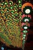 Фонарики на виске Haedong Yonggungsa, Пусане Стоковое фото RF