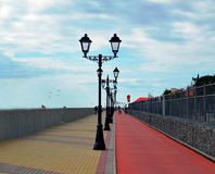 Фонарики на набережной Сочи, Adler Стоковая Фотография