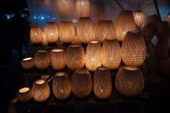 Фонарики ночи в старом Hoi городок стоковое фото rf