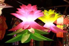 Фонарики Diwali цветка форменные Стоковые Фотографии RF