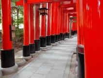 Фонарик в Fushimi Inari, Киото Стоковое Изображение RF