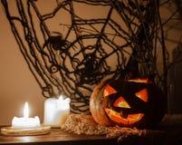 Фонарик Джека на хеллоуин Стоковые Изображения RF