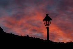 Фонарик захода солнца Стоковая Фотография
