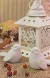 Фонарик и птицы рождества Стоковое Изображение RF