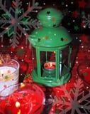 Фонарик и свечи рождества Стоковые Изображения RF